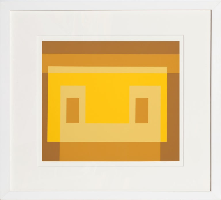 Josef Albers Abstract Print - Variant from Formulation: Articulation