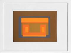 Variant from Formulation: Articulation, Framed Silkscreen by Josef Albers
