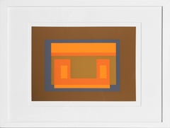 Variant from Formulation: Articulation, Framed Silkscreen by Josef Albers