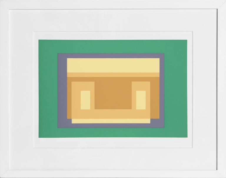 Josef Albers Abstract Print - Variant from the Formulation: Articulation