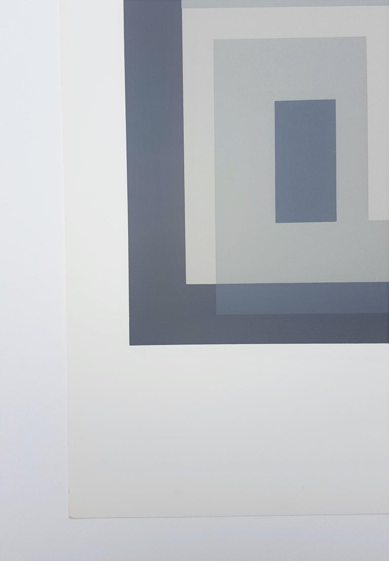 Variant III - Gray Abstract Print by Josef Albers