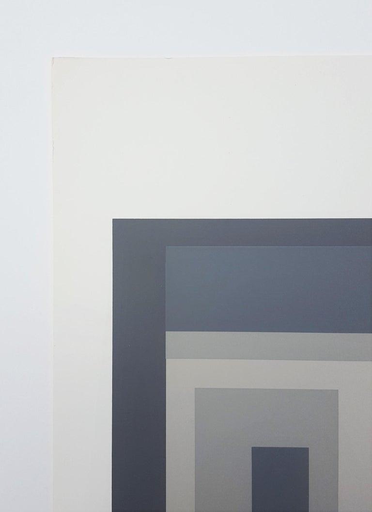An original screenprint on Rives BFK paper by German-American artist Josef Albers (1888-1976) titled