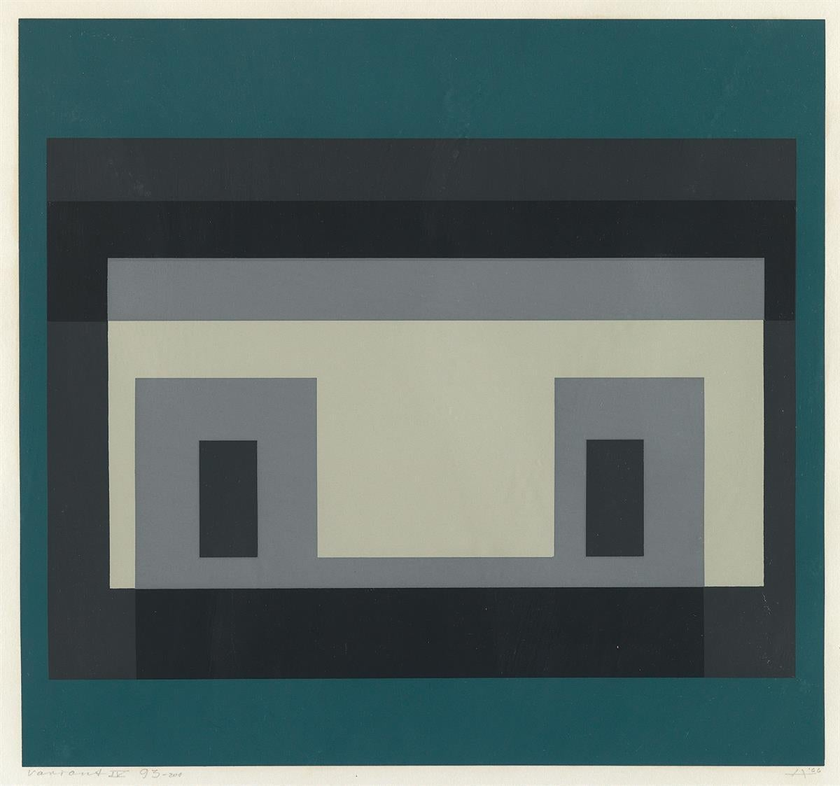 """Variant IV  (From Ten Variants) by Josef Albers"