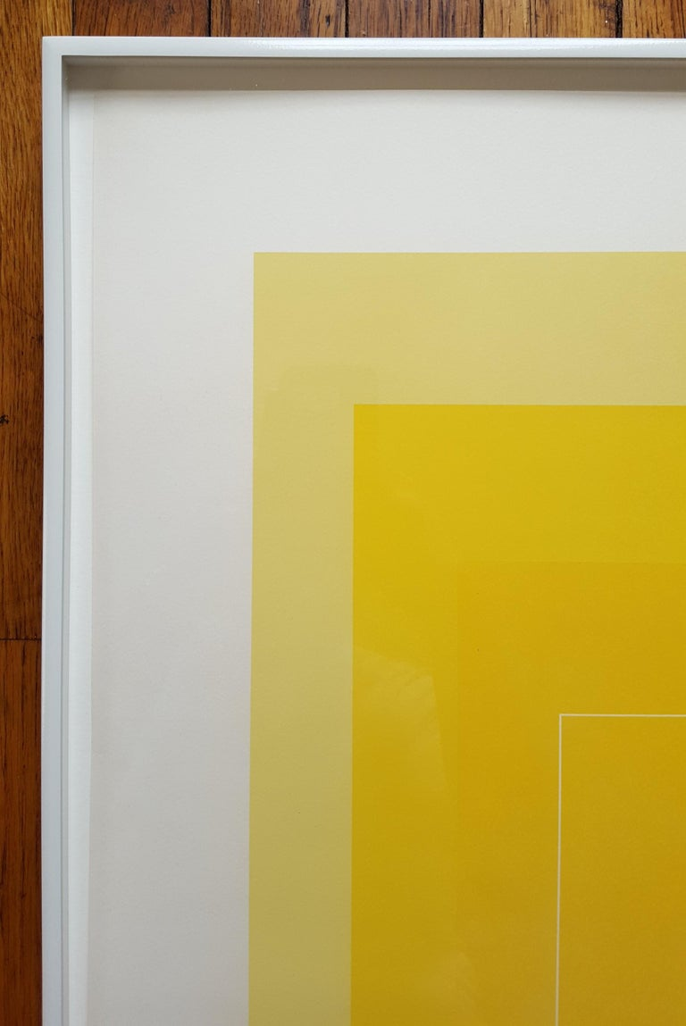 WLS I - Yellow Abstract Print by Josef Albers