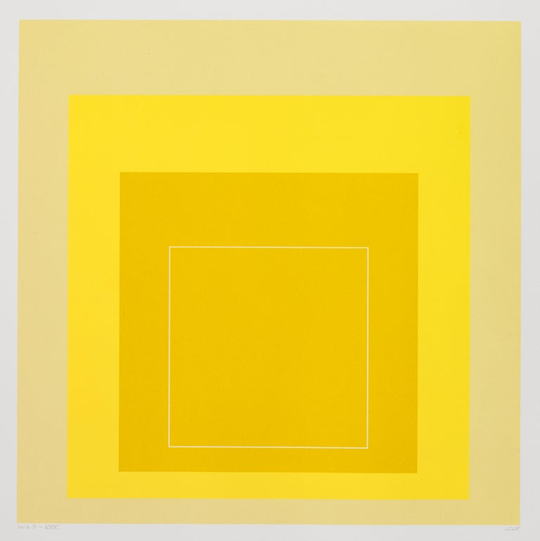 Josef Albers Abstract Print - WLS XVII