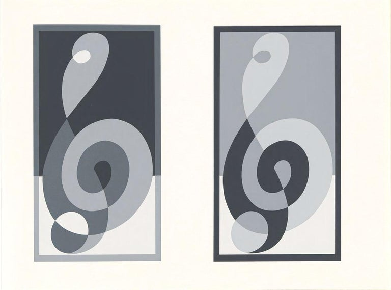 Mid-Century Modern Josef Albers Screen Print Diptych from Formulation Articulation For Sale