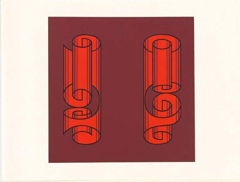Mid-Century Modern Josef Albers Screen Print Diptych from Formulation, Articulation For Sale
