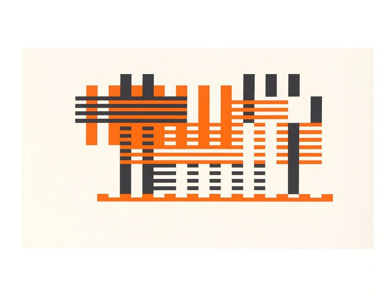 A terrific example of a two-paged screen print from Josef Alber's Formulation : Articulation, 1972. This example is Portfolio 1 from Folder 18, 1972.   From an edition of 1000 produced for Harry N. abrams Inc. and Ives Sillman Inc.