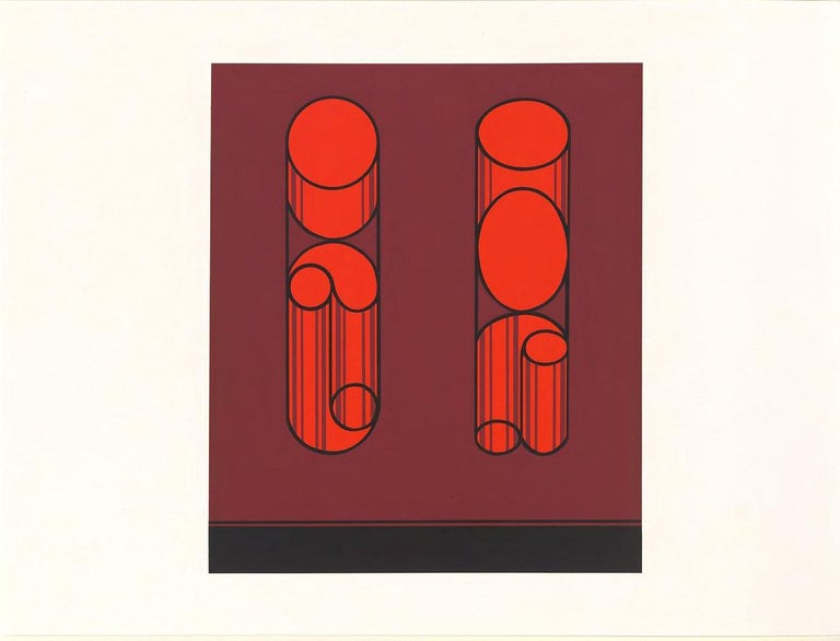 American Josef Albers Screen Print Diptych from Formulation, Articulation For Sale