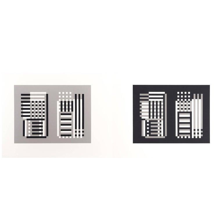 Josef Albers Silk Screen Diptych For Sale