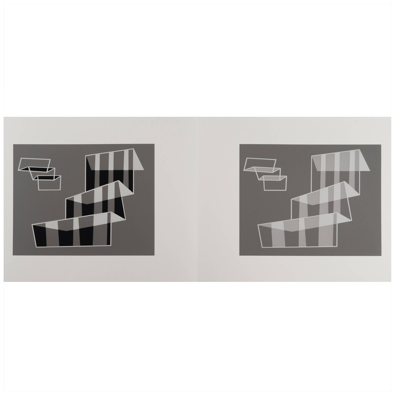 Josef Albers Silk Screen Diptych