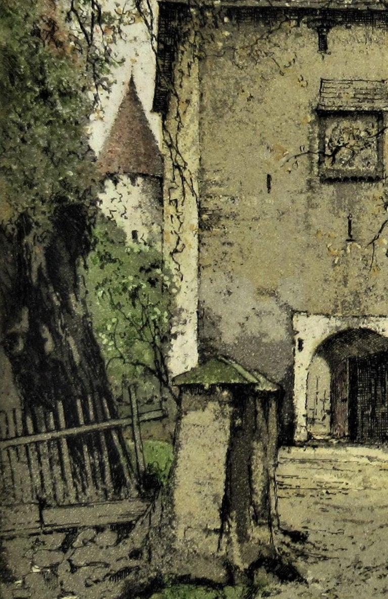 Diex, Carinthia, Austria - Gray Figurative Print by Josef Eidenberger
