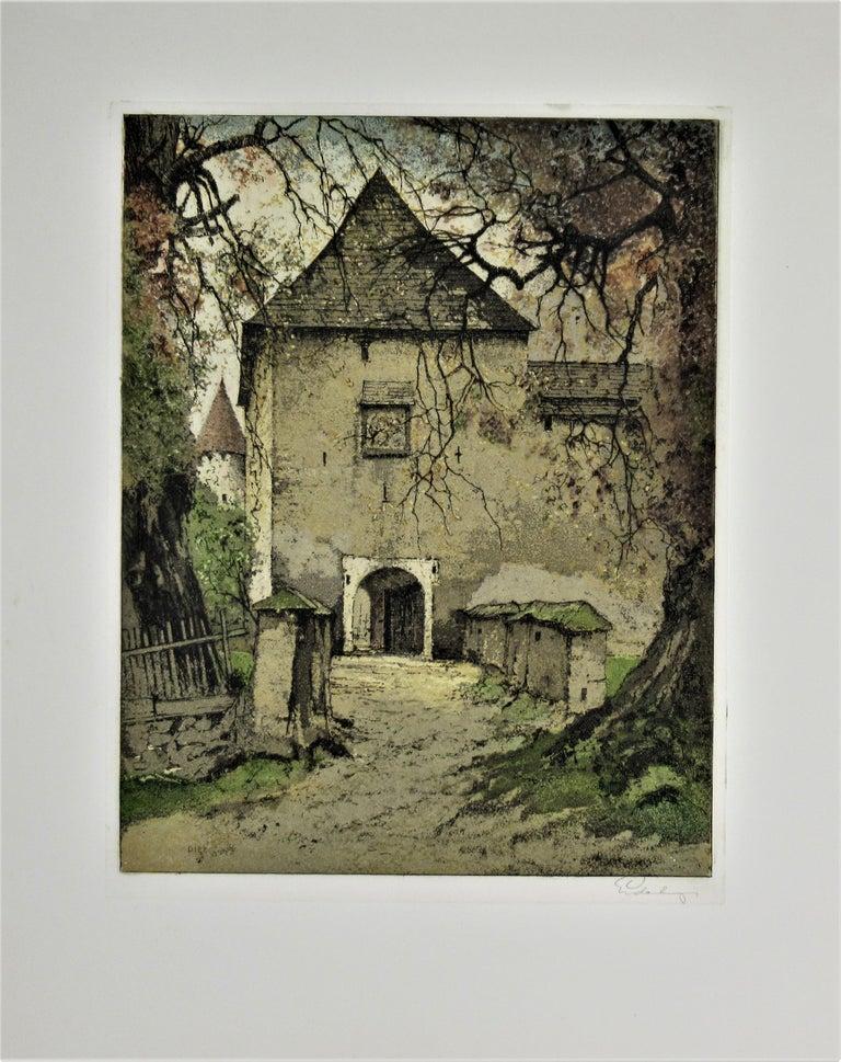 Josef Eidenberger Figurative Print - Diex, Carinthia, Austria