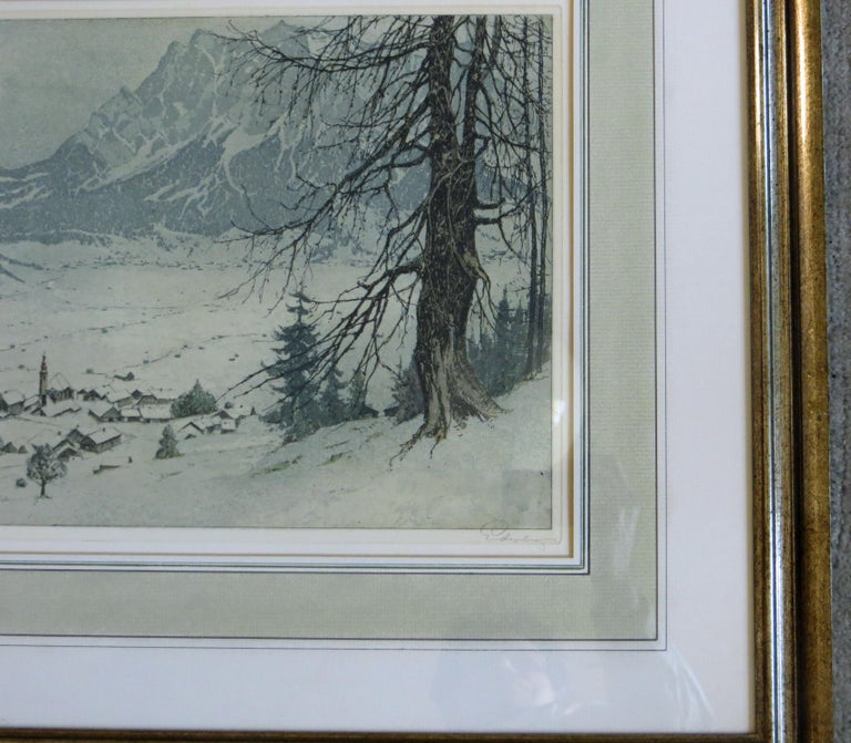 Lermoos, Austria - Gray Landscape Print by Josef Eidenberger
