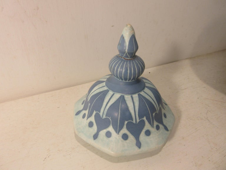 Swedish Josef Ekberg Ceramic Lidded Vase For Sale