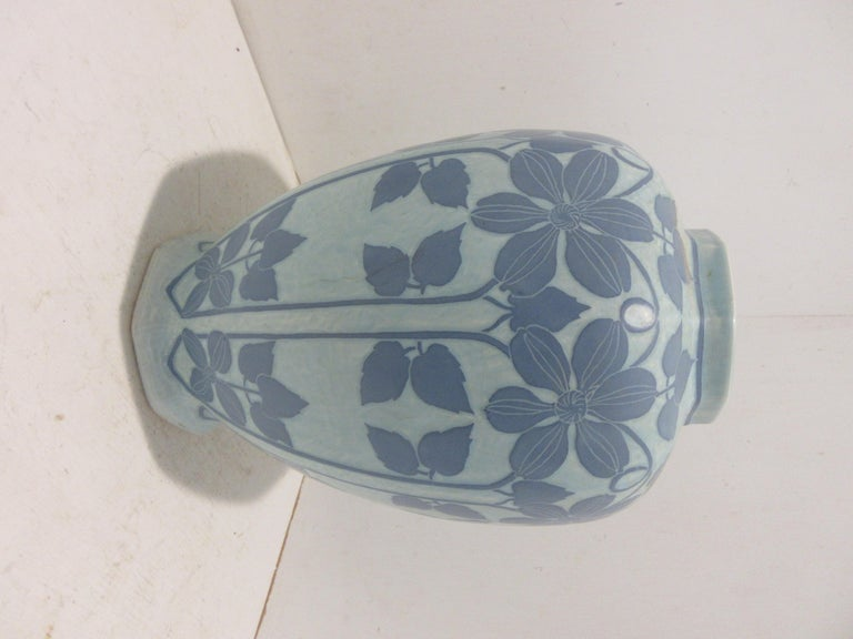 Josef Ekberg Ceramic Lidded Vase In Good Condition For Sale In Hollywood, FL
