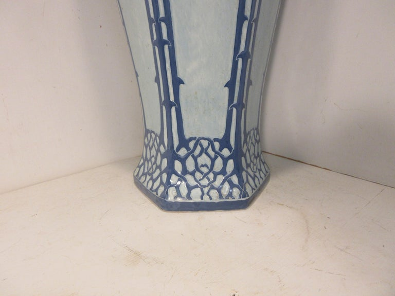 Art Nouveau Josef Ekberg Ceramic Vase For Sale