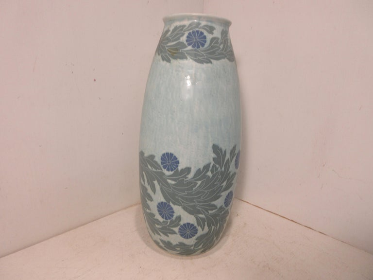 Carved Josef Ekberg Ceramic Vase For Sale