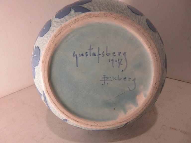 Josef Ekberg Ceramic Vase In Good Condition For Sale In Hollywood, FL
