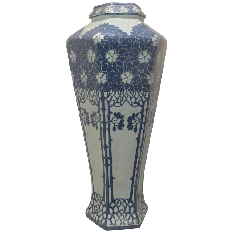 Josef Ekberg Ceramic Vase For Sale