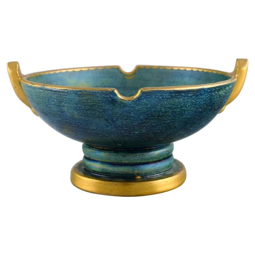 Josef Ekberg for Gustavsberg, Art Deco Bowl in Glazed Ceramics