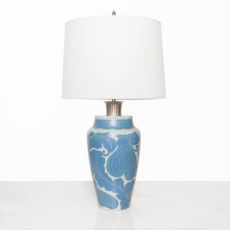 Swedish Art Deco table lamp in ceramic