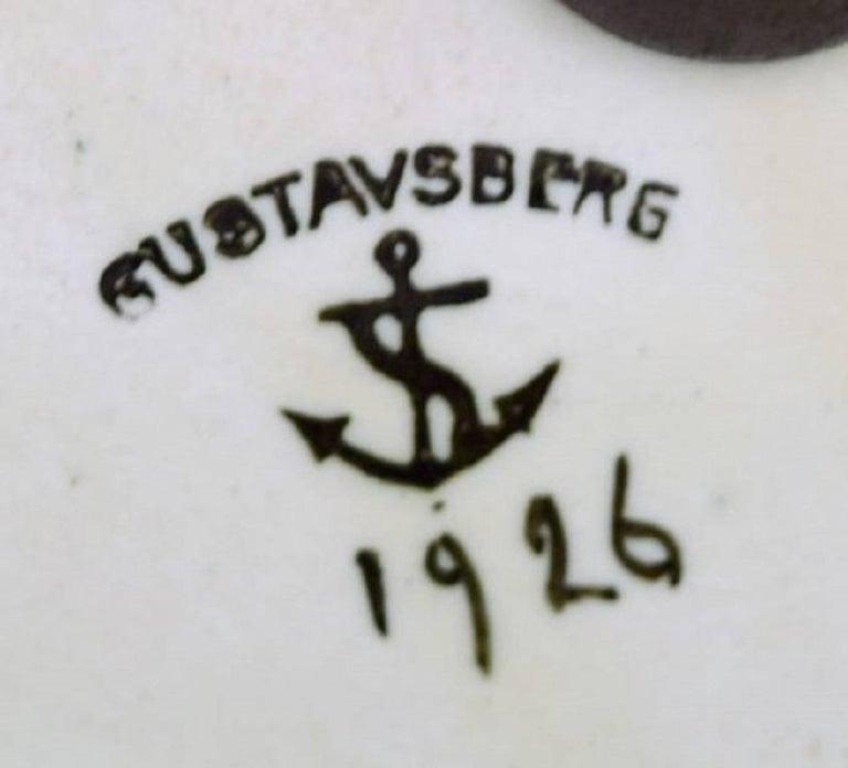 Early 20th Century Josef Ekberg, Gustavsberg Art Deco Ceramic Lamp For Sale