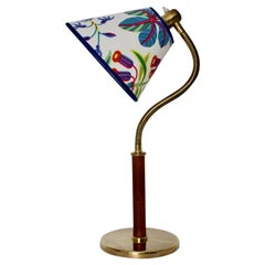 Josef Frank Art Deco Vintage Brass Table Lamp for J. T. Kalmar Vienna circa 1934