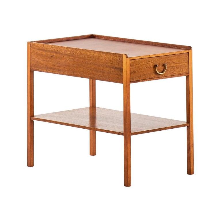 Josef Frank Bedside / Side Table Produced by Svenskt Tenn in Sweden For Sale