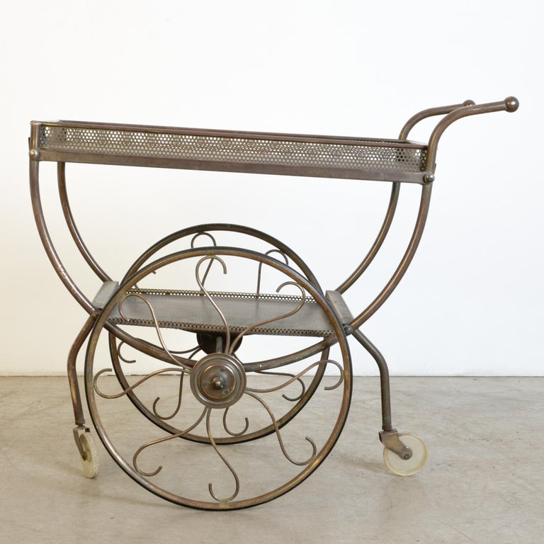 Josef Frank Brass Svenskt Tenn Tea Cart For Sale 5