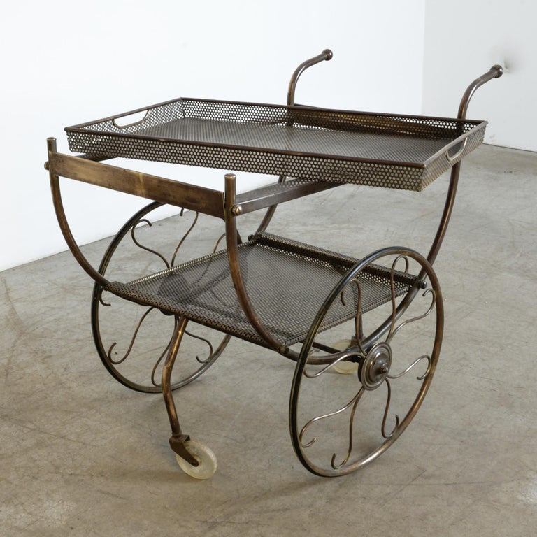 Swedish Josef Frank Brass Svenskt Tenn Tea Cart For Sale