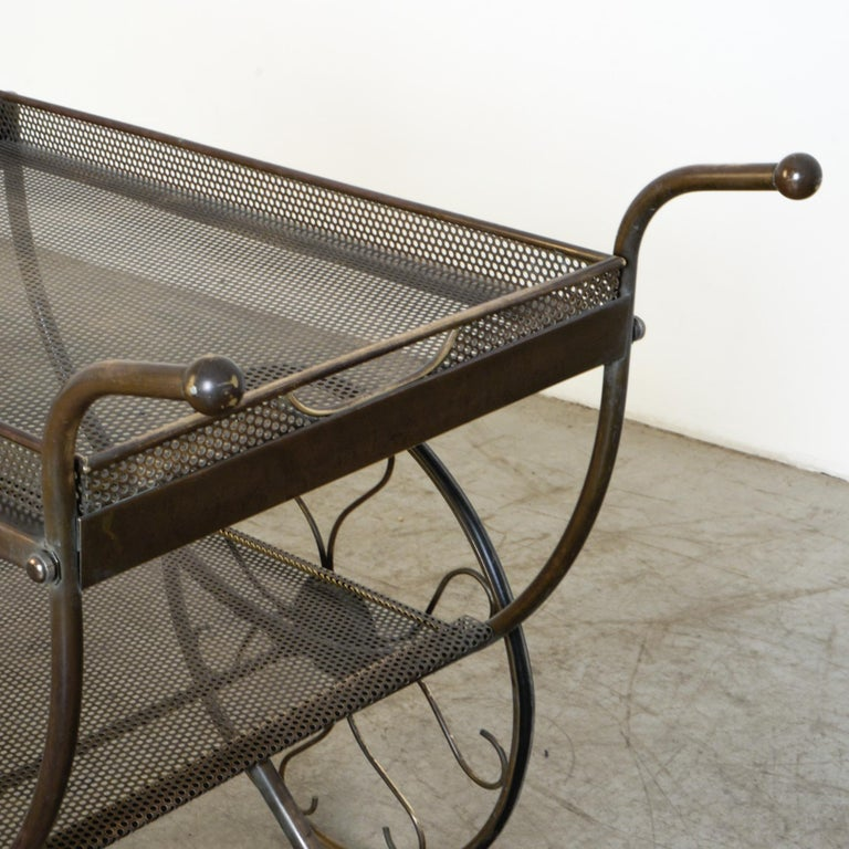 Josef Frank Brass Svenskt Tenn Tea Cart In Good Condition For Sale In High Point, NC