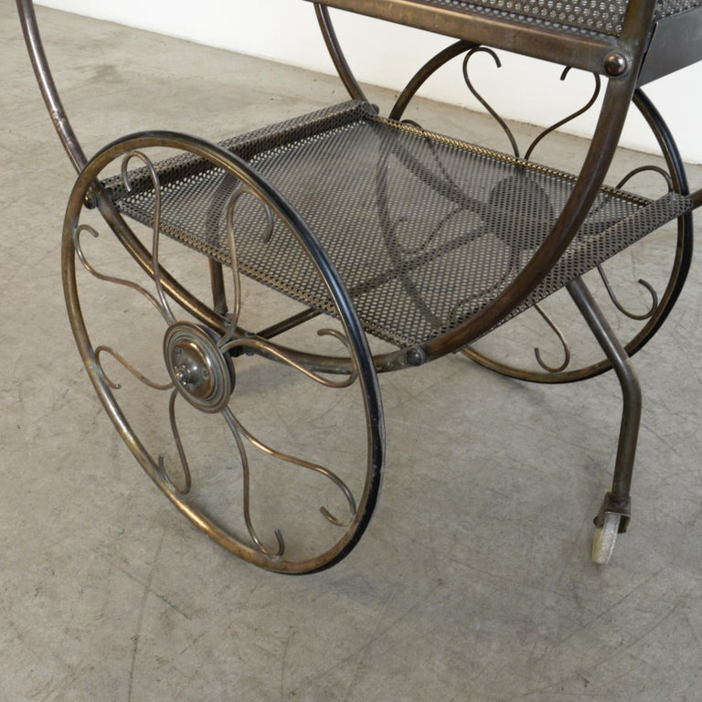 Mid-20th Century Josef Frank Brass Svenskt Tenn Tea Cart For Sale