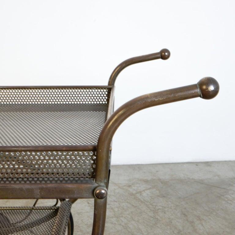 Josef Frank Brass Svenskt Tenn Tea Cart For Sale 1