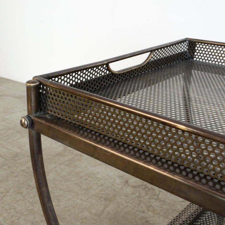 Josef Frank Brass Svenskt Tenn Tea Cart For Sale 2
