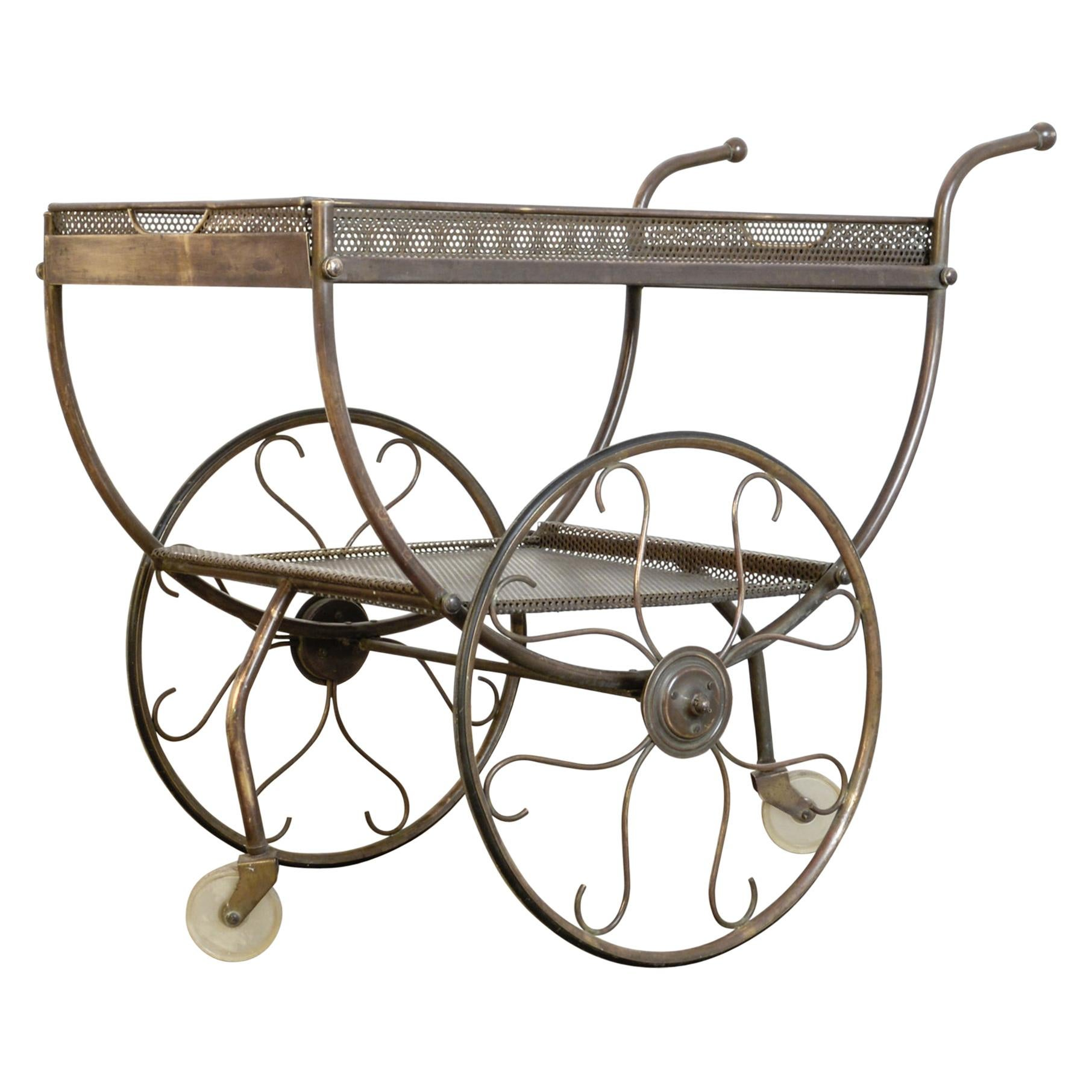 Josef Frank Brass Svenskt Tenn Tea Cart