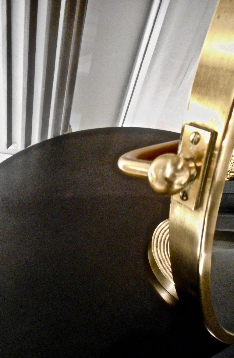 Josef Frank Brass Table Mirror, Stockholm, 1940 For Sale 1