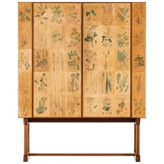 Josef Frank Cabinet Flora / Model 852 Produced by Svenskt Tenn in Sweden