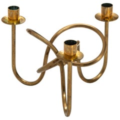 Josef Frank Candlestick in Brass Produced by Svenskt Tenn in Sweden