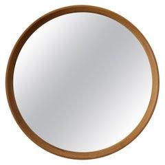 Josef Frank, Curved Wall Mirror, Solid Oak, Mirror, Svenskt Tenn, Sweden, 1950s