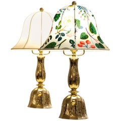 Josef Frank Fabric /Josef Hoffmann Wiener Werkstaette Table Lamp, Re-Edition