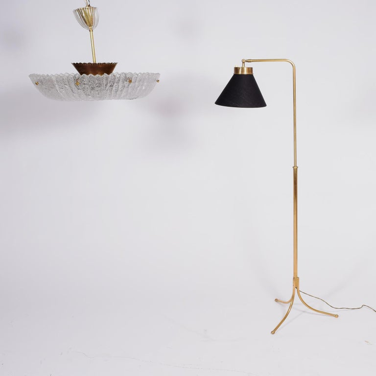 Josef Frank Floor Lamp Model 1842 for Svensk Teen In Good Condition For Sale In Dallas, TX