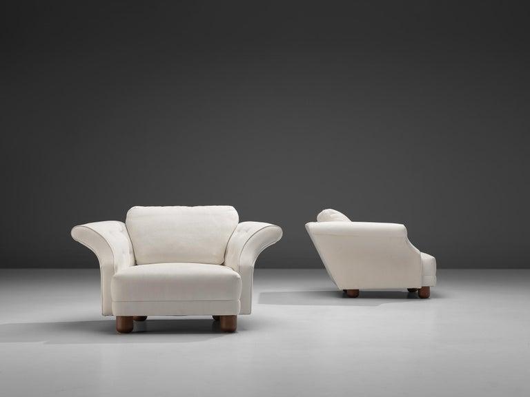 Josef Frank forSvenskt Tenn Pair of 'Liljevalchs' Lounge Chairs For Sale 3