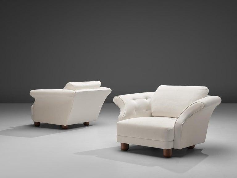 Josef Frank forSvenskt Tenn Pair of 'Liljevalchs' Lounge Chairs For Sale 5