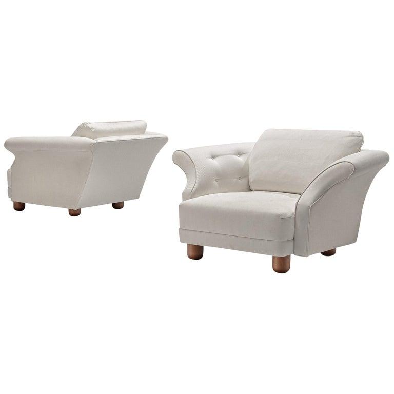 Josef Frank forSvenskt Tenn Pair of 'Liljevalchs' Lounge Chairs For Sale
