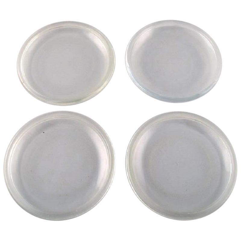 Kaj Franck for Nuutajärvi, Four Plates in Art Glass