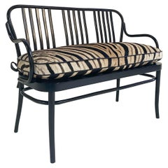Josef Frank for Thonet Bentwood Bench with Zebra Hide Cushion