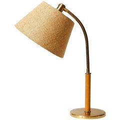 Josef Frank Kalmar Table Lamp 'Tisch-Überall' Mod. 1092, Brass Leather, 1950s
