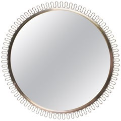 Josef Frank Mirror in Brass Produced by Svenskt Tenn in Sweden