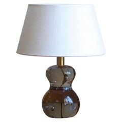Josef Frank, Rare Table Lamp, Blown Glass, Brass, Svenskt Tenn, Sweden, 1950s